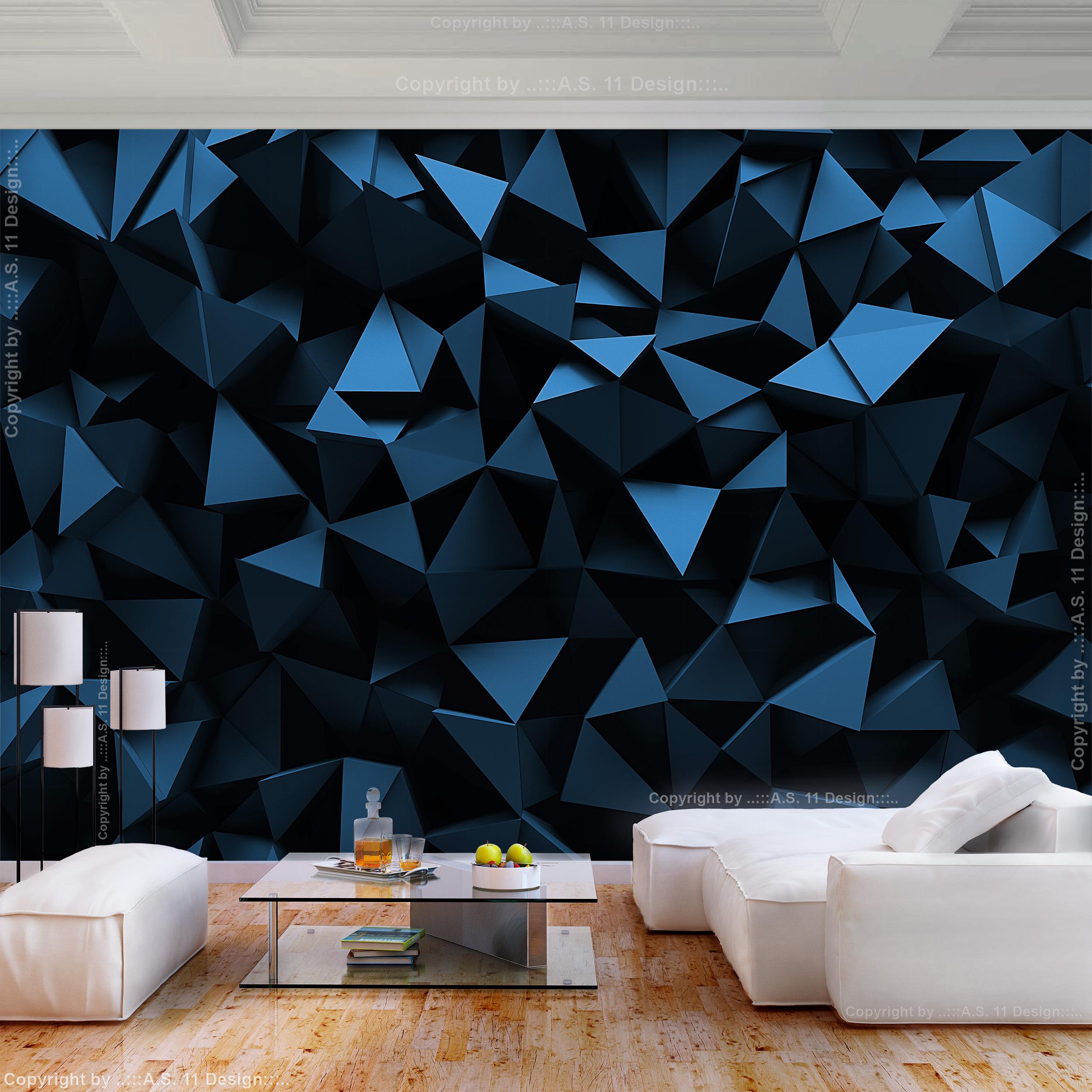 Vlies fototapete abstrakt schwarz steine 3d effekt tapete for Wandbilder wohnzimmer abstrakt