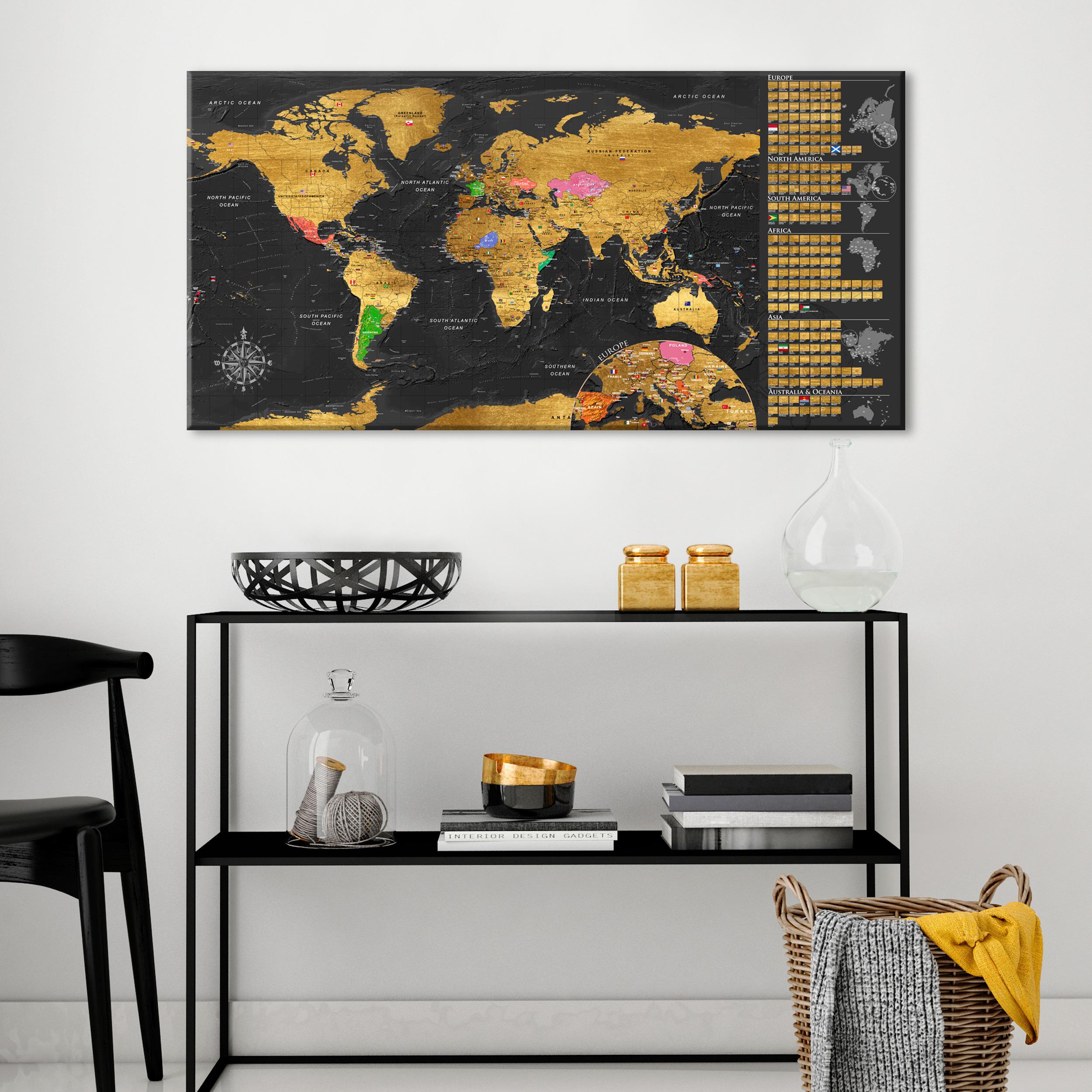 rubbel weltkarte pinnwand wie kork scratch rubbelposter. Black Bedroom Furniture Sets. Home Design Ideas