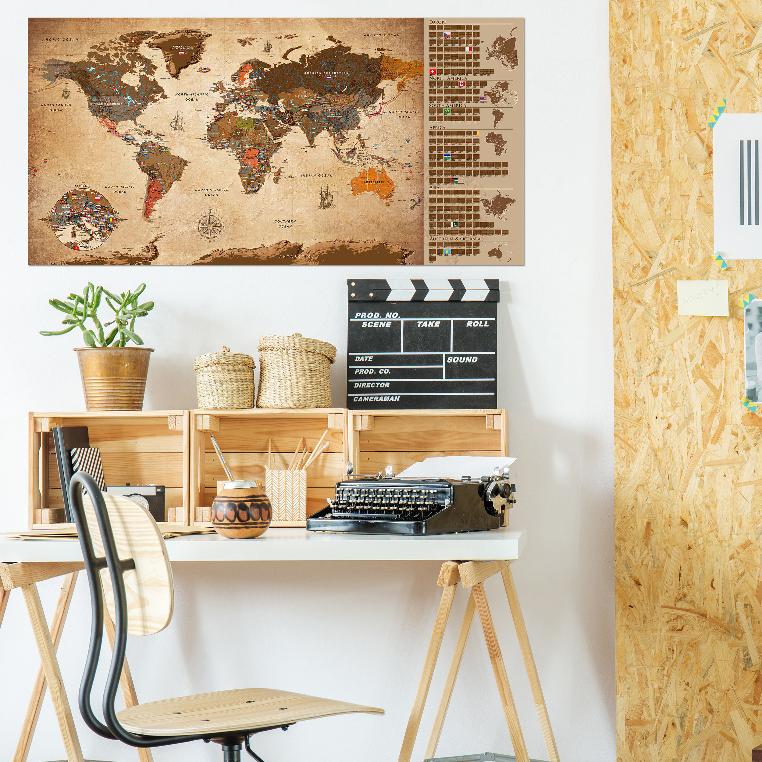 rubbel weltkarte zum rubbeln scratch off rubbelposter poster landkarte laminiert ebay. Black Bedroom Furniture Sets. Home Design Ideas