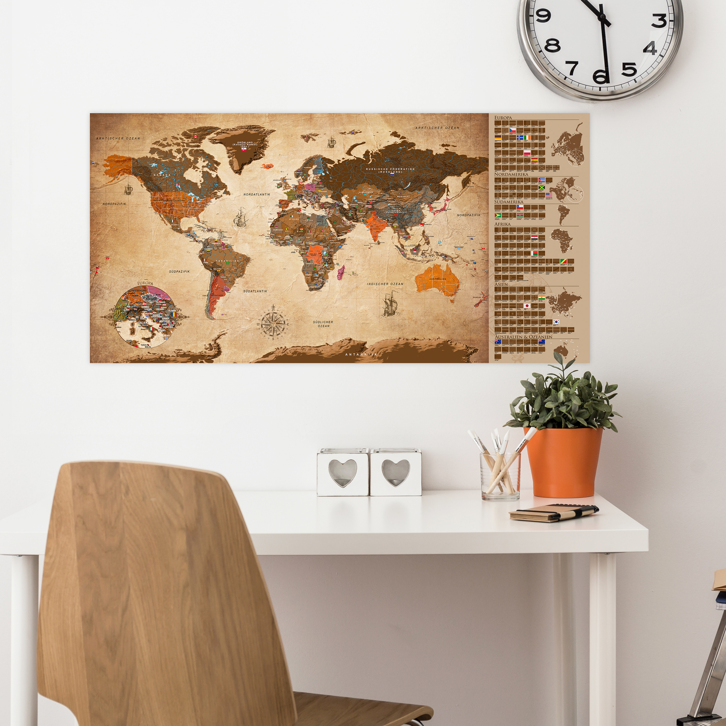 rubbel weltkarte scratch off rubbelposter de eng geschenk. Black Bedroom Furniture Sets. Home Design Ideas