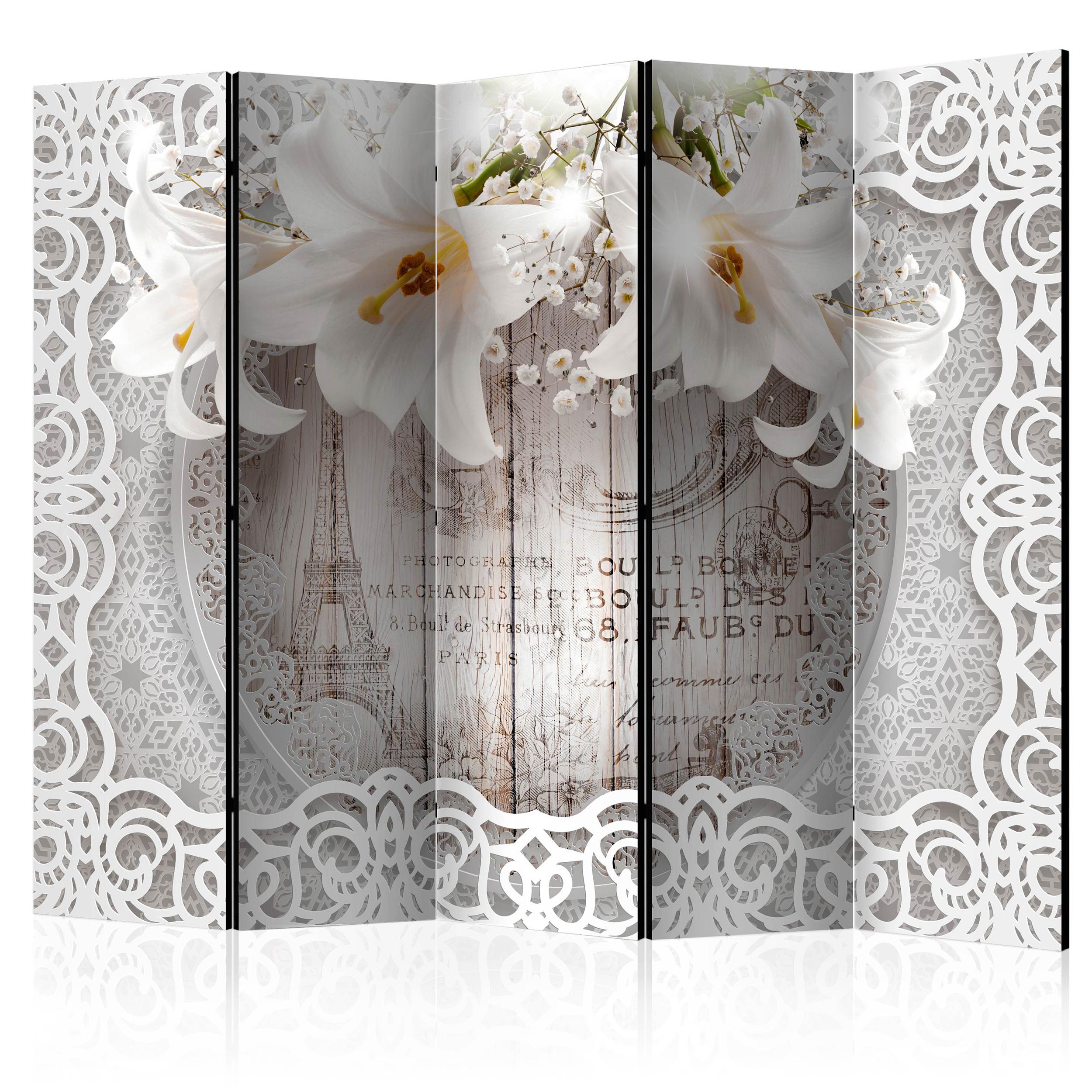 PARAVENT RAUMTEILER Spanische Wand TRENNWAND Abstrakt Blumen 2 Formate