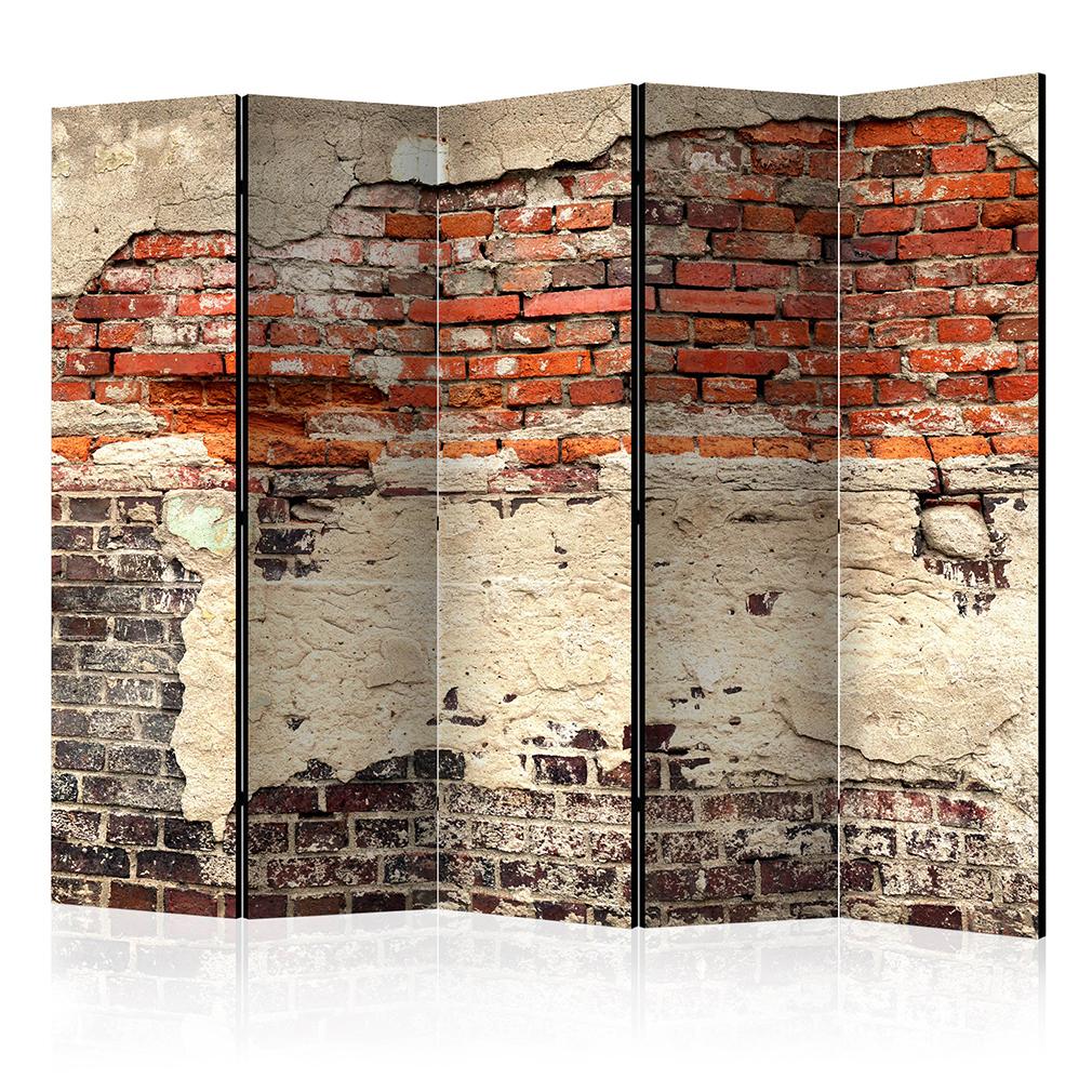 deko paravent raumteiler trennwand foto sandstein steinoptik stein brau 2 format ebay. Black Bedroom Furniture Sets. Home Design Ideas