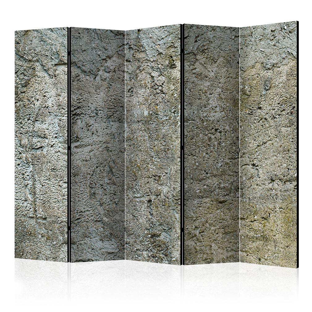 DEKO PARAVENT RAUMTEILER TRENNWAND Stein Muster grau Beton Textur ...