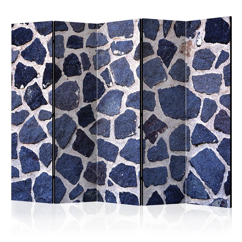 deko paravent raumteiler trennwand foto stein steinwand grau braun 2 formate ebay. Black Bedroom Furniture Sets. Home Design Ideas