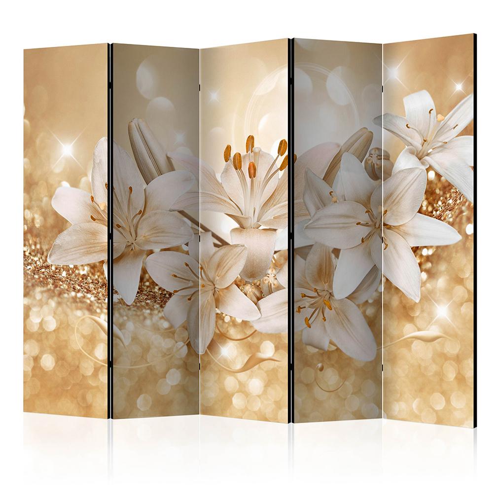 deko paravent raumteiler trennwand foto blumen lilie abstrakt diamant 2 formate ebay. Black Bedroom Furniture Sets. Home Design Ideas