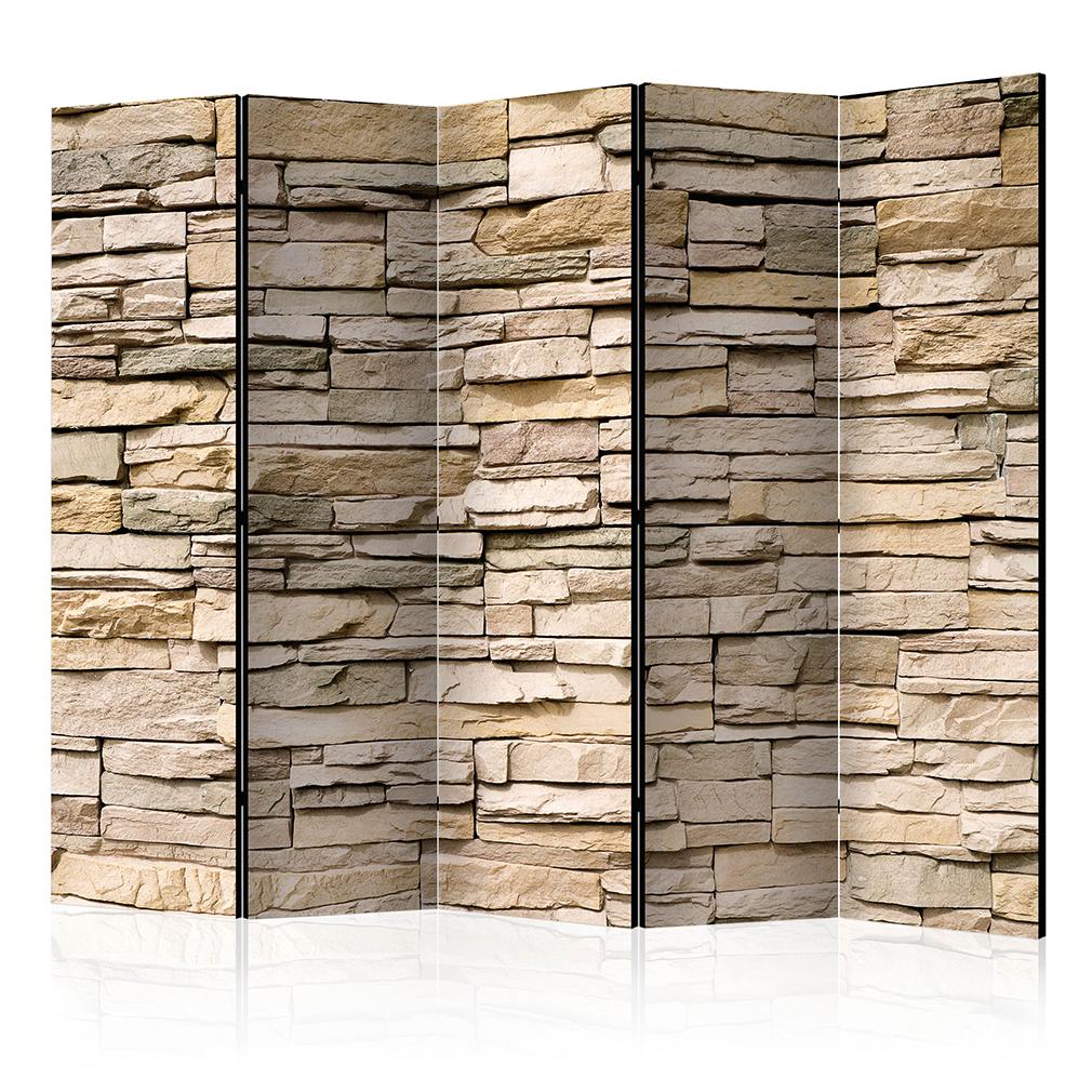 deko paravent raumteiler trennwand foto sandstein ziegel stein braun rot 2format ebay. Black Bedroom Furniture Sets. Home Design Ideas