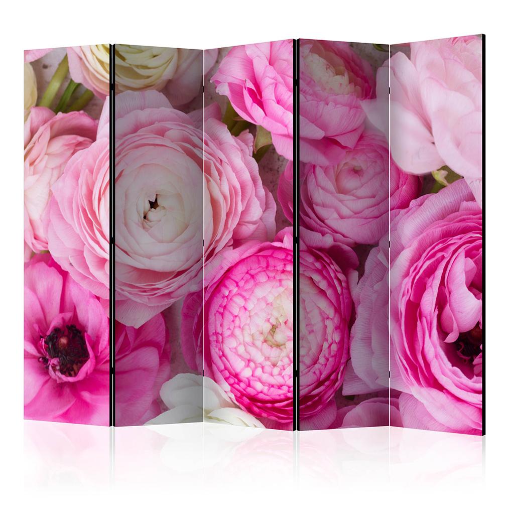 deko paravent raumteiler trennwand foto blumen tulpen lavendel rosa 2 formate ebay. Black Bedroom Furniture Sets. Home Design Ideas