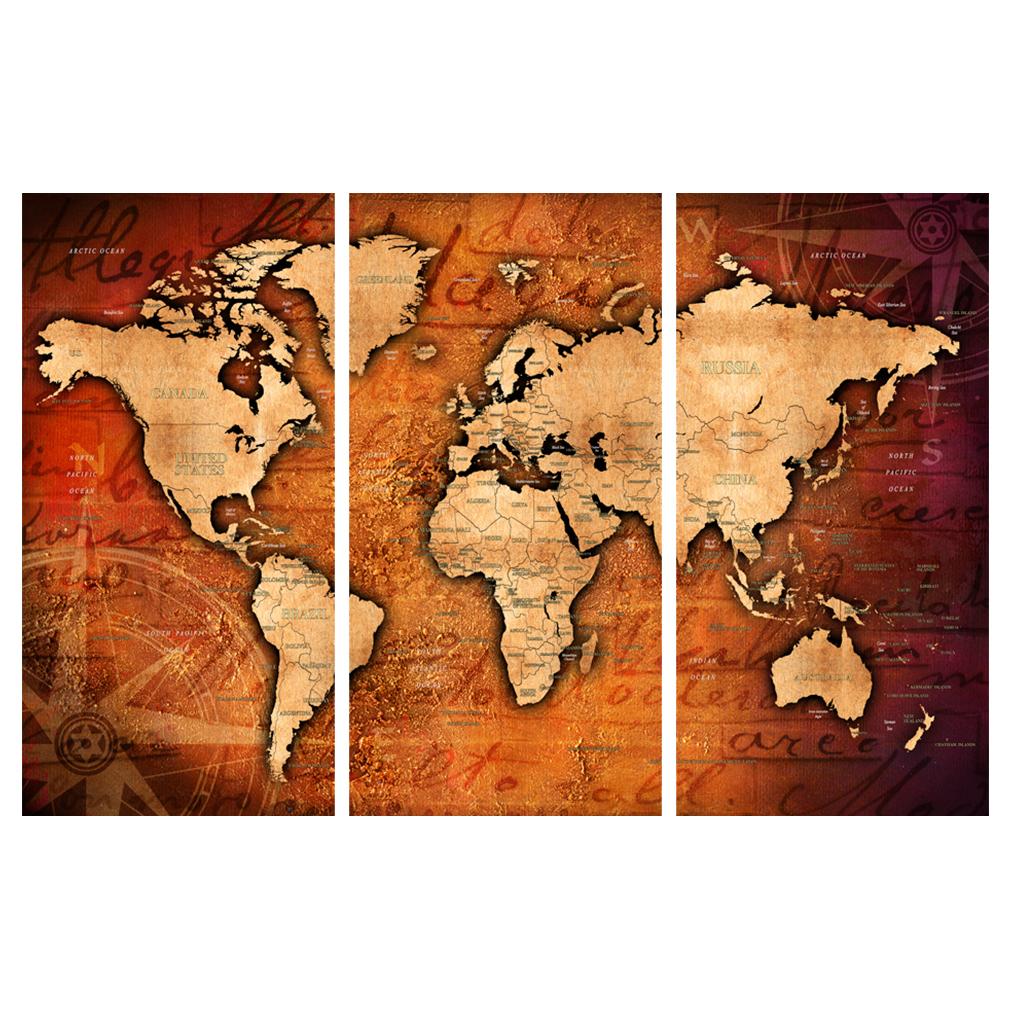 LEINWAND-BILDER-xxl-Bild-Weltkarte-Map-PINNWAND-Holzfaserplatte-GROssE-AUSWAHL Indexbild 19