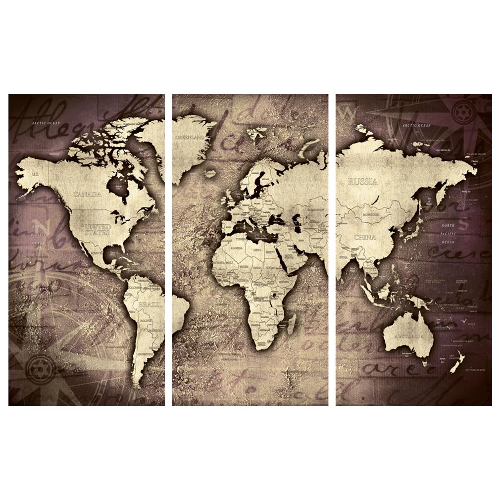 LEINWAND-BILDER-xxl-Bild-Weltkarte-Map-PINNWAND-Holzfaserplatte-GROssE-AUSWAHL Indexbild 29