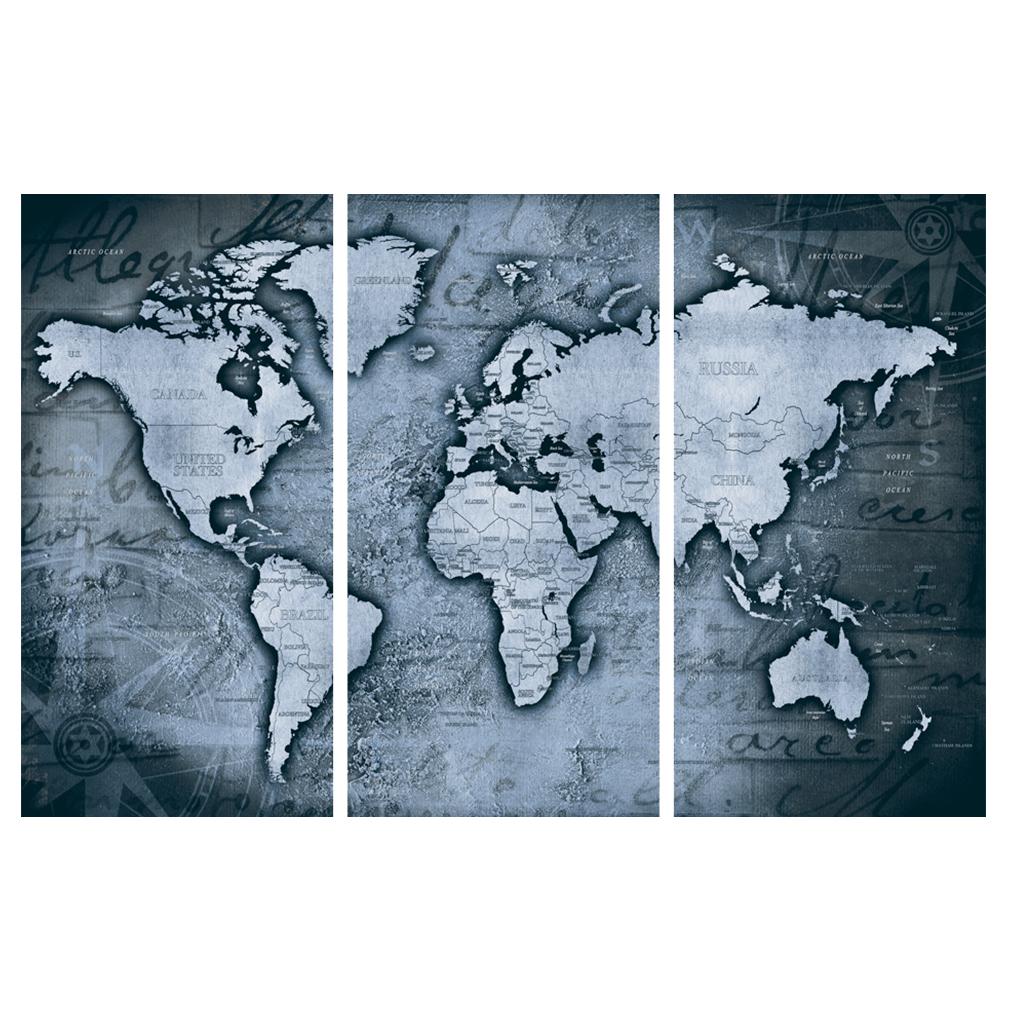 LEINWAND-BILDER-xxl-Bild-Weltkarte-Map-PINNWAND-Holzfaserplatte-GROssE-AUSWAHL Indexbild 35