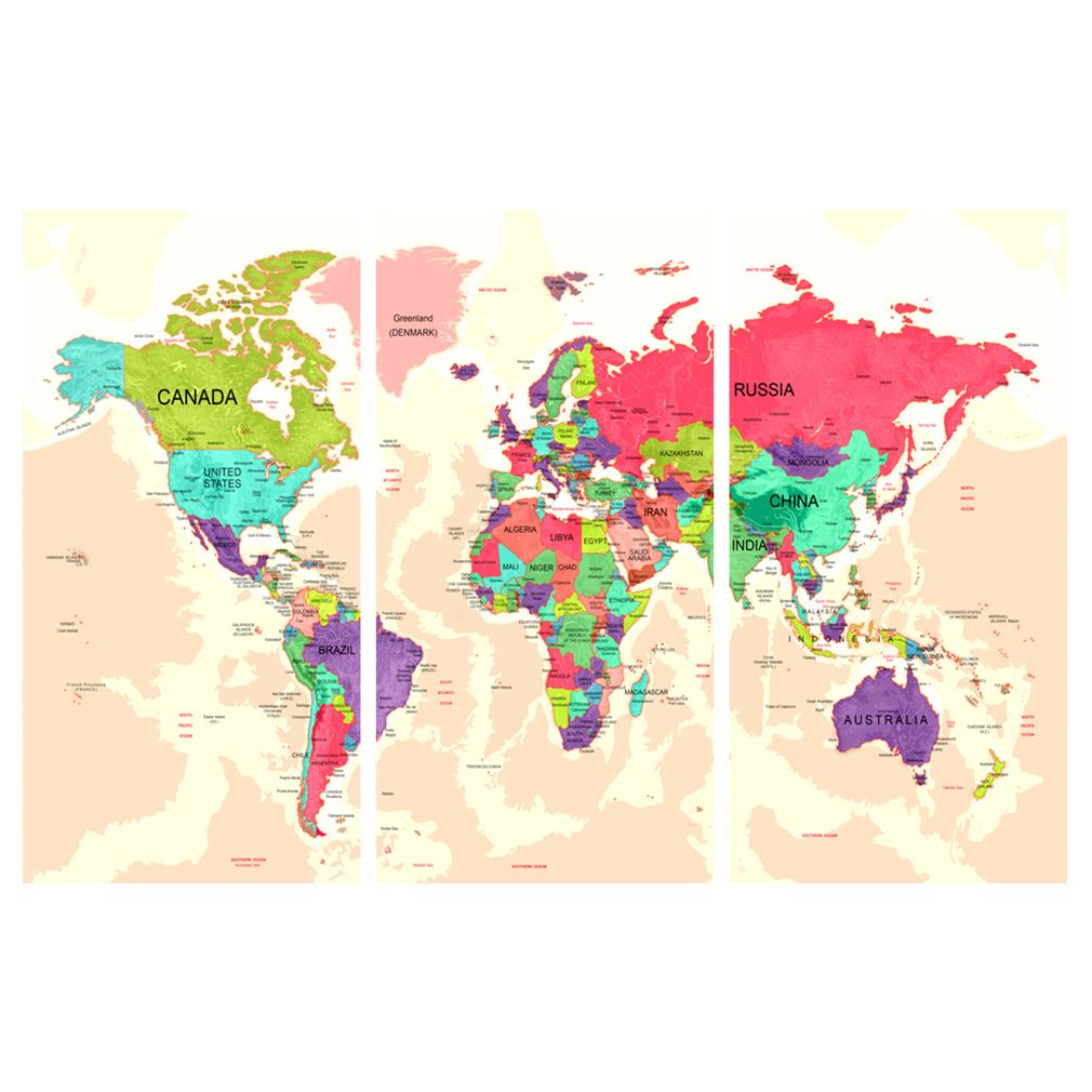 LEINWAND-BILDER-xxl-Bild-Weltkarte-Map-PINNWAND-Holzfaserplatte-GROssE-AUSWAHL Indexbild 17