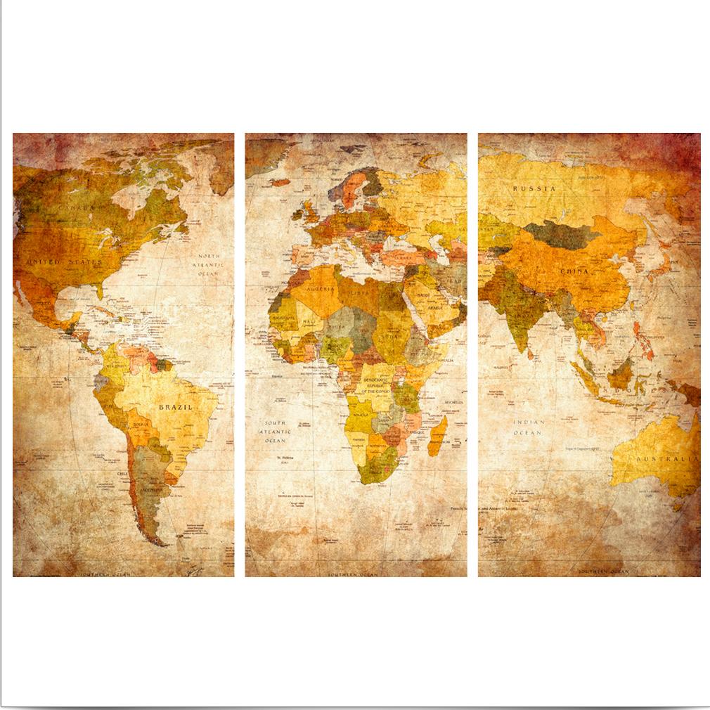 LEINWAND-BILDER-xxl-Bild-Weltkarte-Map-PINNWAND-Holzfaserplatte-GROssE-AUSWAHL Indexbild 3