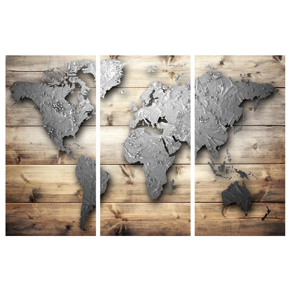 LEINWAND-BILDER-xxl-Bild-Weltkarte-Map-PINNWAND-Holzfaserplatte-GROssE-AUSWAHL Indexbild 25