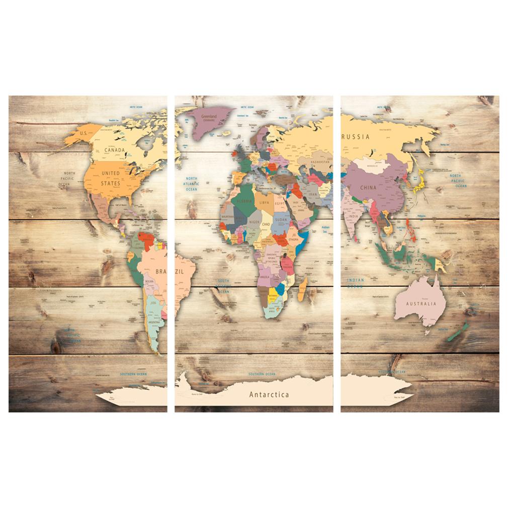 LEINWAND-BILDER-xxl-Bild-Weltkarte-Map-PINNWAND-Holzfaserplatte-GROssE-AUSWAHL Indexbild 27
