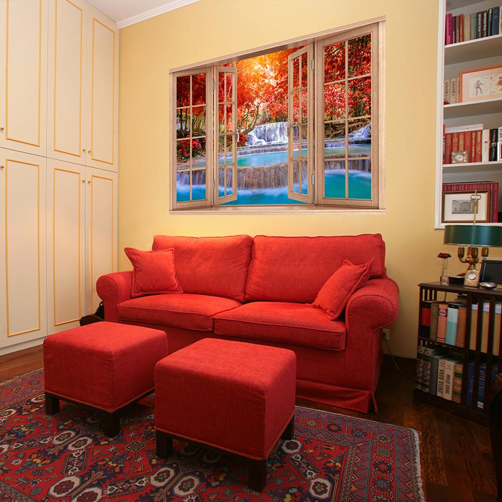 wandsticker 3d fensterblick wandbild wandillusion fototapete poster xxl toc0020 ebay. Black Bedroom Furniture Sets. Home Design Ideas