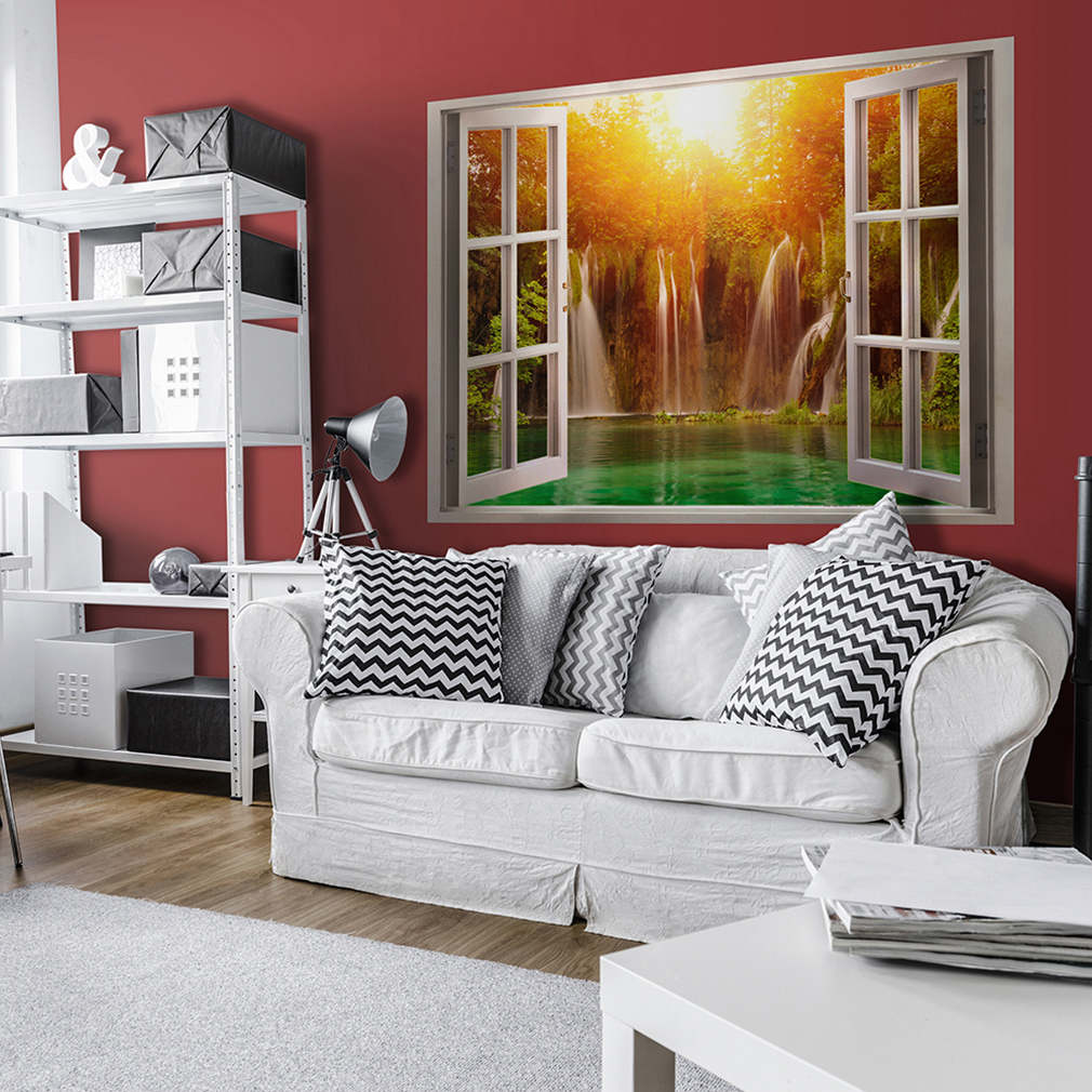 wandsticker 3d fensterblick wandbild wandillusion fototapete poster xxl toc0020 ebay. Black Bedroom Furniture Sets. Home Design Ideas