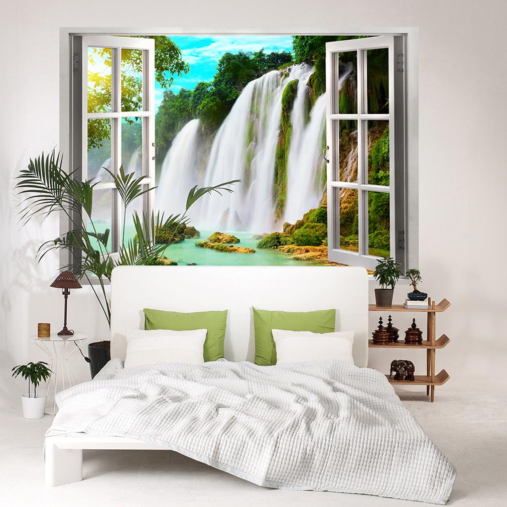 wandsticker 3d fensterblick wandbild wandillusion. Black Bedroom Furniture Sets. Home Design Ideas